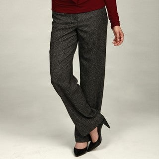 Focus 2000 Women's Black/ White Tweed Pants