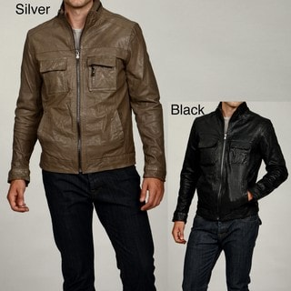 Kenneth Cole Men's Leather Moto Jacket FINAL SALE - Overstock Shopping - Big Discounts on Kenneth Cole Jackets