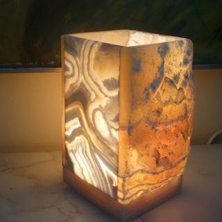 Natural Alabaster 1-light Lamp (Egypt)