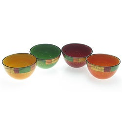 Certified International Caliente Assorted Ice Cream Bowls (Set of 4)