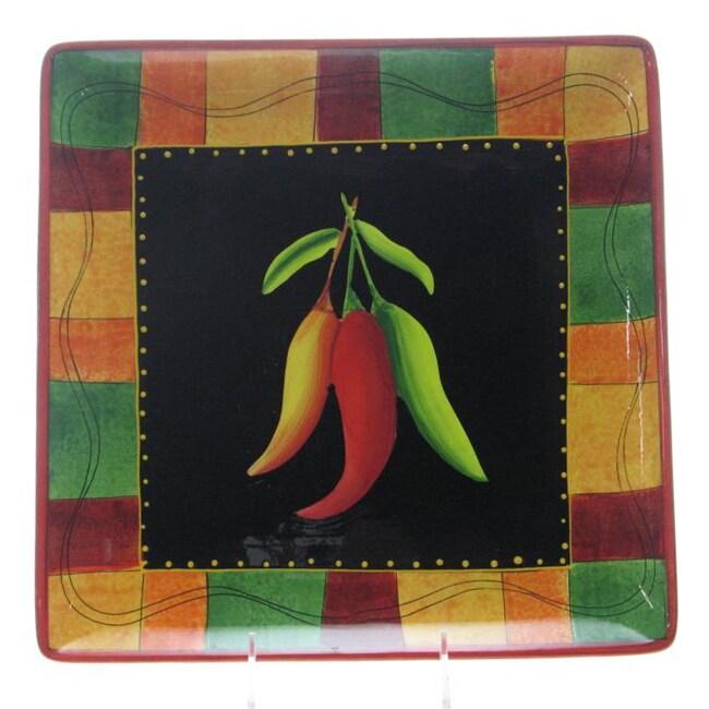 Certified International Caliente 12.5-in Square Platter