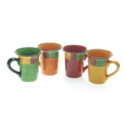 Certified International Caliente 16-ounce Mugs (Set of 4)