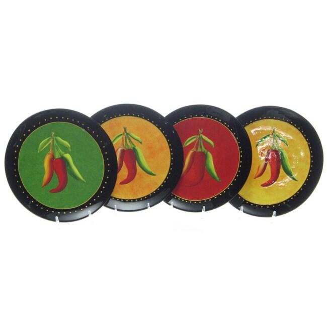 Certified International Caliente 8.75-inch Salad Plates (Set of 4)