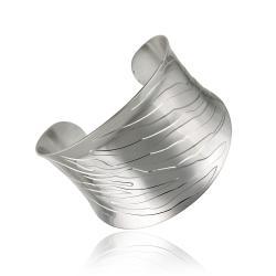 Mondevio Stainless Steel Engraved Design Cuff Bracelet