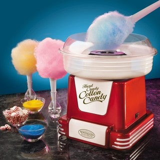 Nostalgia Electrics Red Sugar-Free Hard Candy Cotton Candy Maker