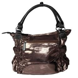 Adi Designs Women's Slouchy Metallic Double Handle Handbag