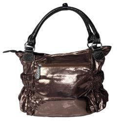 Adi Designs Women's Slouchy Metallic Double Handle Handbag