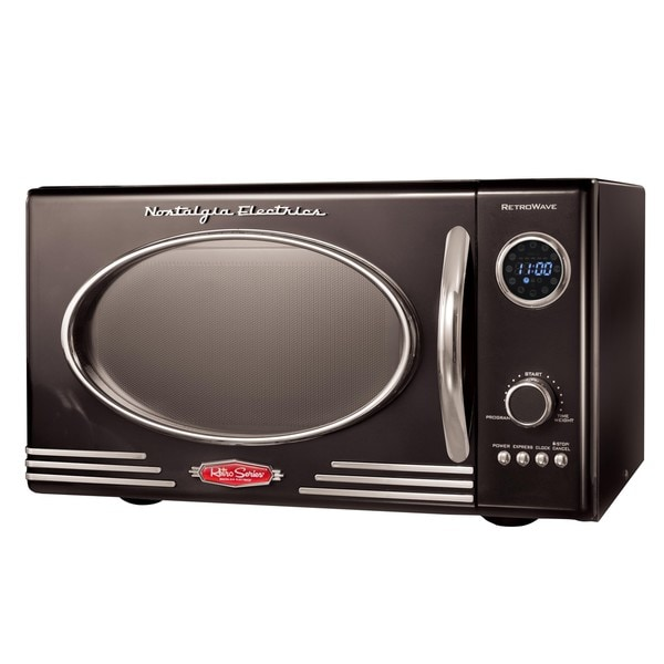 Nostalgia Electrics Retro Black Microwave 13718963