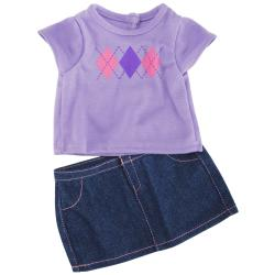 Springfield Collection Argyle T-shirt and Skirt