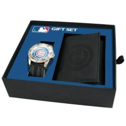 Chicago Cubs Watch and Wallet Gift Set