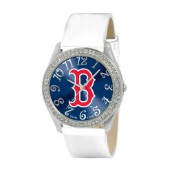 Game Time Boston Red Sox Women's Glitz Classic Analog Patent Leather Watch