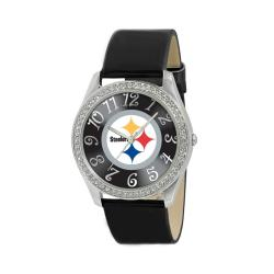Game Time Pittsburgh Steelers Women's Glitz Classic Analog Patent Leather Watch