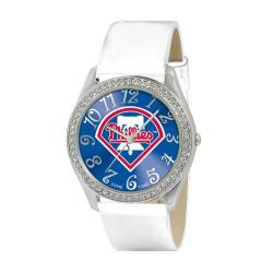 Game Time Philadelphia Phillies Women's Glitz Analog Patent Leather Watch