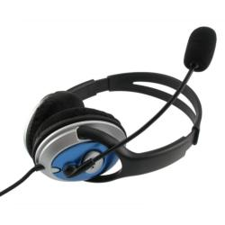 eForCity Over-the-head Hands-free VoIP/Skype Wired Stereo Headset