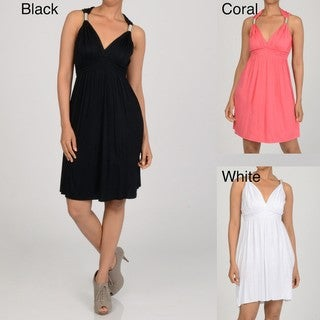 Elan Women's Dress with Adjustable Silver Spring Trim