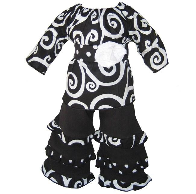 Ann Loren Modern Swirl Outfit For 18-inch American Girl Dolls
