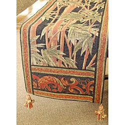 Corona Decor Italian Woven Tropical Table Runner