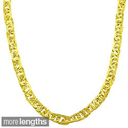 Fremada 10k Yellow Gold Hammered Flat Oval Link Necklace (18 or 20 inch)