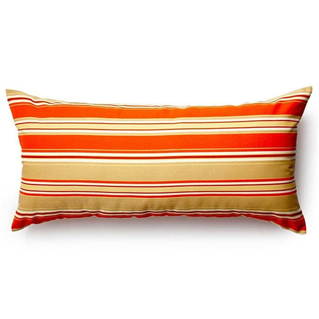 Orange Thick Stripes Outdoor Pillow