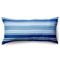 Thick Blue Stripes Outdoor Pillow