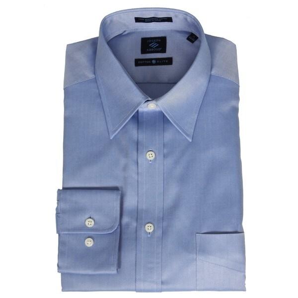 Joseph abboud men 39 s pointed collar blue dress shirt for Joseph abboud dress shirt