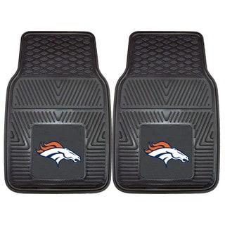Fanmats Denver Broncos 2-piece Vinyl Car Mats