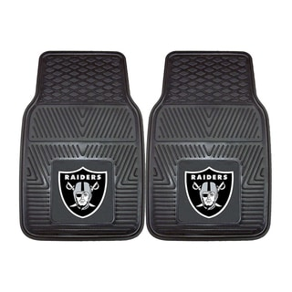 Fanmats Oakland Raiders 2-piece Vinyl Car Mats