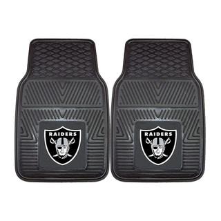 Fanmats Oakland Raiders 2-piece Vinyl Car Mats