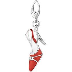 Sterling Silver Slingback Shoe Charm