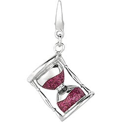 Sterling Silver Hourglass Charm