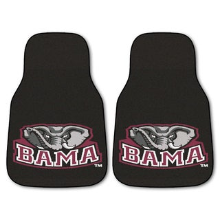 Fanmats Alabama 2-piece Carpeted Nylon Car Mats