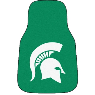 Fanmats Michigan State 2-piece Carpeted Nylon Car Mats