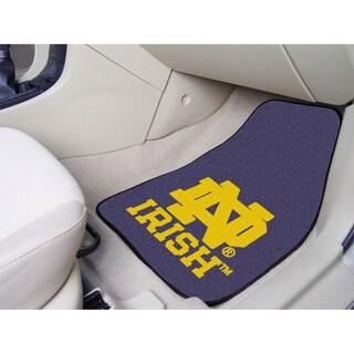 Fanmats Notre Dame 2-piece Carpeted Nylon Car Mats