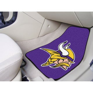 Fanmats Minnesota Vikings 2-piece Carpeted Nylon Car Mats