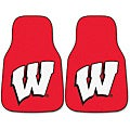 Fanmats Wisconsin 2-piece Carpeted Nylon Car Mats
