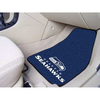 Fanmats Seattle Seahawks 2-piece Carpeted Nylon Car Mats