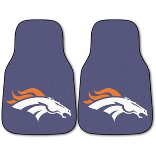 Fanmats Denver Broncos 2-piece Carpeted Nylon Car Mats