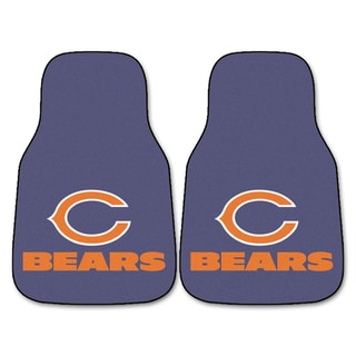 Fanmats Chicago Bears 2-piece Carpeted Nylon Car Mats