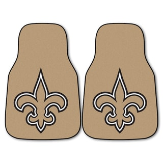 Fanmats New Orleans Saints 2-piece Carpeted Car Mats