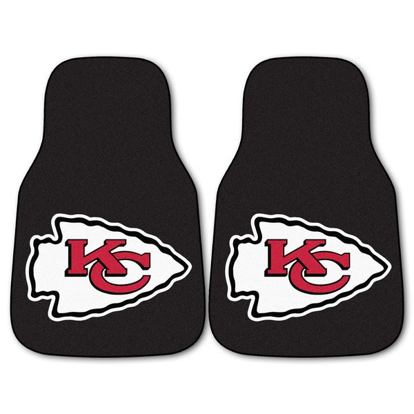 Fanmats Kansas City Chiefs 2-piece Carpeted Nylon Car Mats