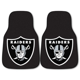 Fanmats Oakland Raiders 2-piece Carpeted Nylon Car Mats