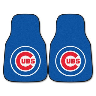 Fanmats Chicago Cubs 2-piece Carpeted Car Mats