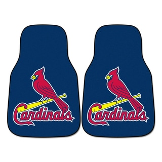 Fanmats St Louis Cardinals 2-piece Carpeted Car Mats