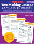 Text-Marking Lessons for Active Nonfiction Reading Grades 4-8: Reproducible Nonfiction Passages With Lessons That... (Paperback)