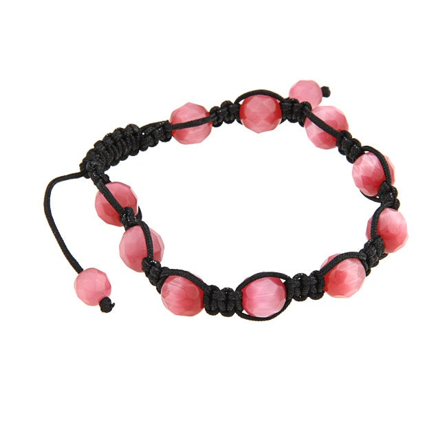 La Preciosa Pink Cat Eye Bead Macrame Bracelet at Sears.com