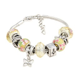 La Preciosa Glass Bead and Charms Bracelet