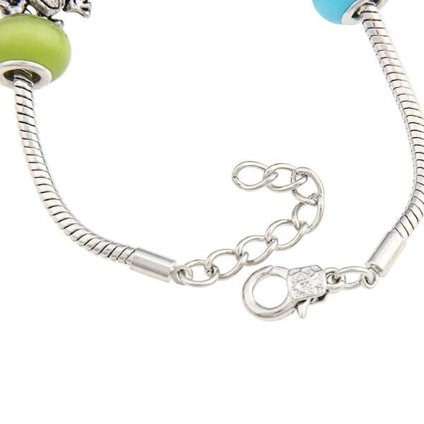 La Preciosa Blue, Clear, Green Bead Bracelet