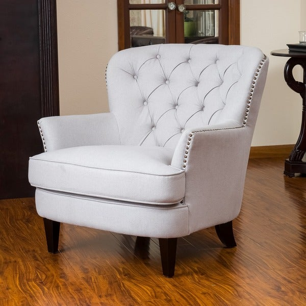 Christopher Knight Home Tafton Tufted Natural Fabric Club Chair (As Is Item)