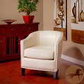 Christopher Knight Home Austin Ivory Leather Club Chair