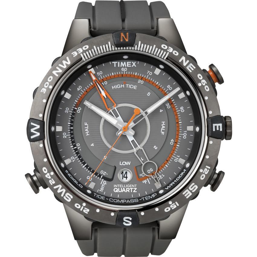 Timex T49860DH Men's Intelligent Quartz Adventure Series Tide Temp Compass Watch